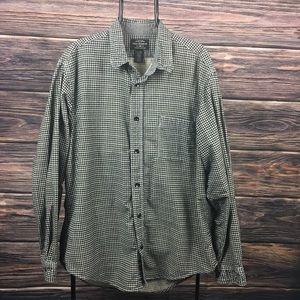Ralph Lauren Black White Flannel Casual XL Shirt
